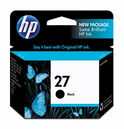 HP 27 Black Original Ink Cartridge (C8727AN) (5610 Printer In All One)