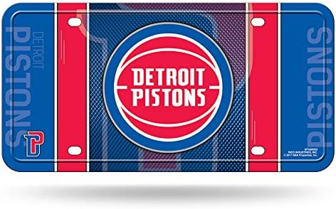 Detroit Pistons NBA Rico Industries Metal License Plate Tag