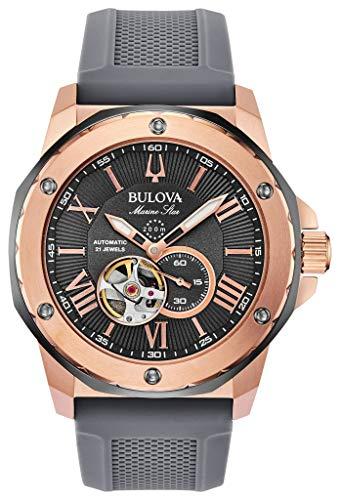 Men's Bulova Marine Star Automatic Grey Dial Watch ()