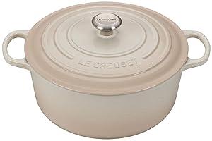 Le Creuset 9-Quart Signature Round Dutch Oven Stainless Steel Knob, Meringue
