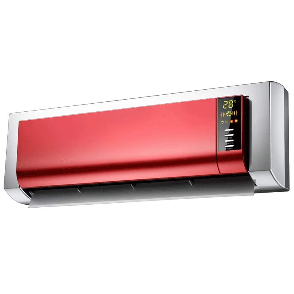 Acquisto HPTC Riscaldatore a Muro riscaldatore Bagno Camera da Letto Dual Uso Riscaldamento Elettrico Ventola Ventilatore Aria Calda Piccolo Ventilatore di Aria condizionata, Rosso Prezzi offerte