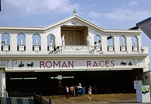 Roadside America Photo Collection | 1978 Roman Races, Atlantic City, New Jersey | Photographer: John Margolies | Historic Photographic Print 12in x 08in