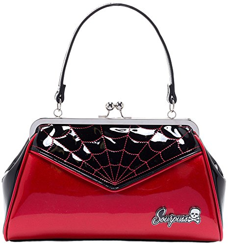 Sourpuss-Spiderweb-Backseat-Baby-Purse-Red