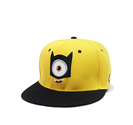 86a00448d14 Amazon.com  Despicable Me 2 Minion Outdoor Adjustable Baseball Cap Snapback  Hip-Hop Hat (One Eyes-Child)  Sports   Outdoors