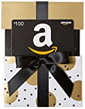 Amazon.com $100 Gift Card in a Gold Reveal (Classic Black Card Design)