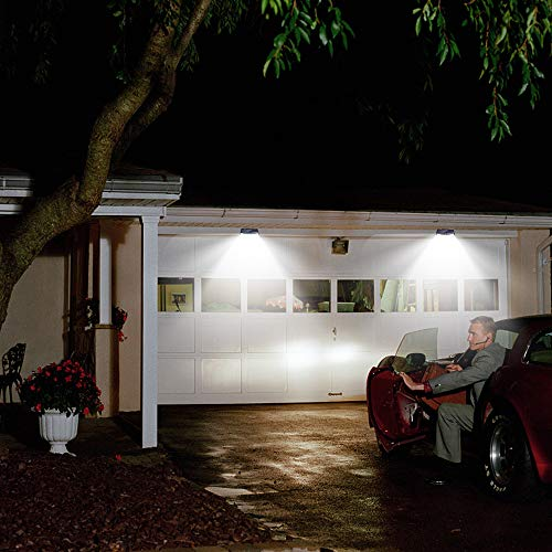 New Solar Lights(4Pack) Upgraded High Efficiency LEDs with 11.8 in² Solar Panel, 3 Optional Modes Sensitive PIR Motion Sensor Light with Wide Angle, IP65 Waterproof Solar Outdoor Security Wall Lights by Aootek (Image #5)