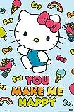 Trends International Hello Kitty - Happy Wall Poster, 22.375' x 34', Multi