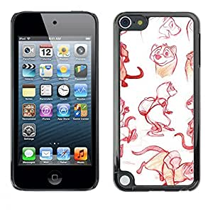 Plastic Shell Protective Case Cover    Apple iPod Touch 5    Drawing Graphical Design @XPTECH