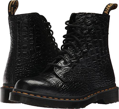 Dr. Martens Women's Pascal Croc Ankle Boot, Black, 3 Medium UK (5 (Croco Print Shoe Boot)