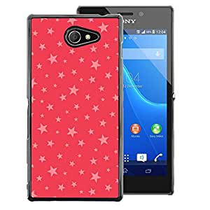 Red-Dwarf Colour Printing Stars Pink Red Pattern Gift Christmas Xmas - cáscara Funda Case Caso de plástico para Sony Xperia M2