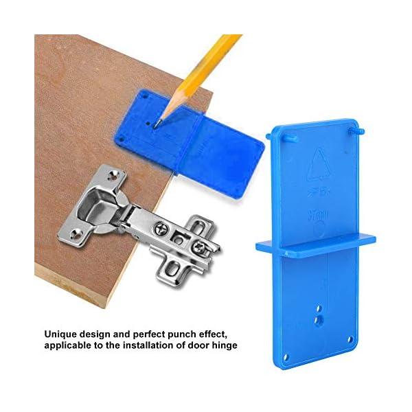 Bisagra Agujero Guía de perforación Localizador Agujero Abridor Plantilla Armarios de puerta Herramienta de bricolaje para carpintería 2 uds