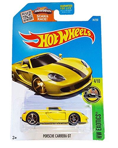Hot Wheels 2016 HW Exotics Porsche Carrera GT 74/250, Yellow