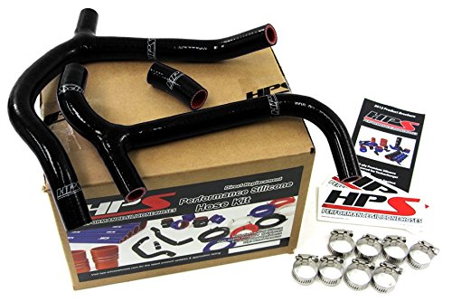 HPS 57-1236-BLK Black Silicone Radiator Coolant Hose Kit