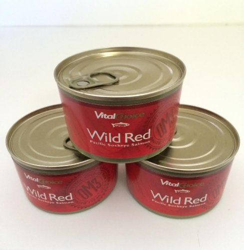 Wild Red Pacific Sockeye Salmon - Skinless/boneless - 6 Oz - Easy Open (3 Cans)
