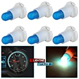CCIYU 6 Pack Ice Blue T5/T4.7 Neo Wedge Halogen Bulbs For A/C Climate Control Light 12V