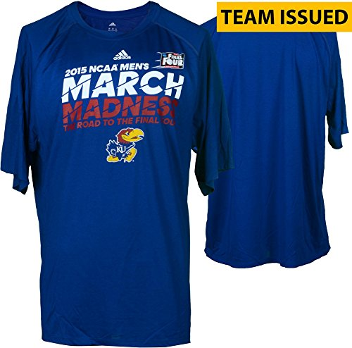 Kansas Jayhawks Team-Issued 2015 Road To The Final Four Shirt - Fanatics Authentic Certified - Other College Game Used Items