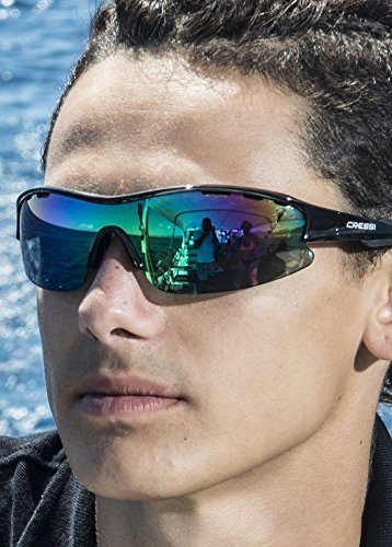 desol para Gris cristales Gafas hombre 100 Lentes UV anti Negro Cressi Reflejado polarizados polarizadas Rocker I4q1t