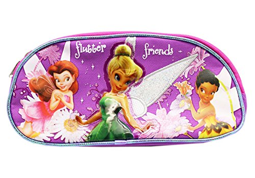 Disney Fairy Handbag (Disney Fairies Tinker Bell Flutter Friends Twin Pouch Cosmetic Bag)