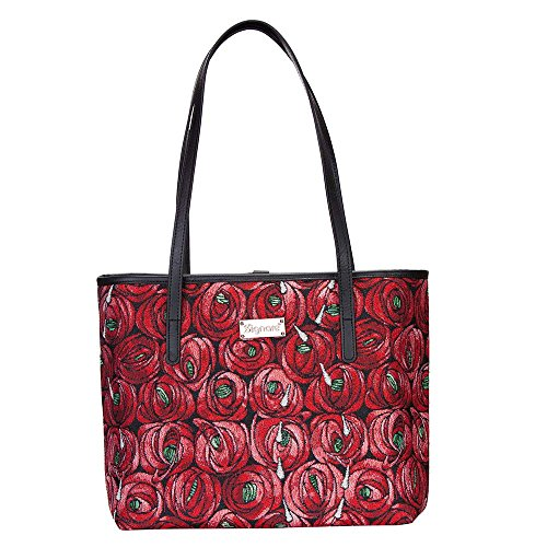 (Charles Rennie Mackintosh Rose and Teardrop Art Nouveau Tote Bags for Women/Shoulder Bag for Women by Signare/COLL-RMTD)