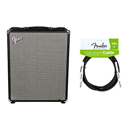 (Fender Rumble 500 500W 2x10 Bass Combo Cable Bundle)