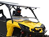 SuperATV Can-Am Commander 800/1000 Scratch Resistant Flip Windshield (2011+)