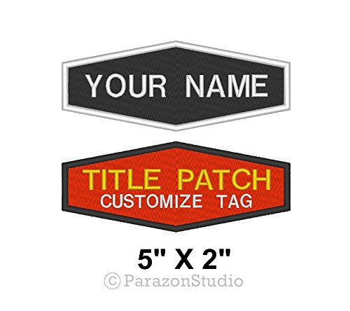 Title Tag (Custom Embroidered Name Title Tag Biker Rider Sew on Patch 5