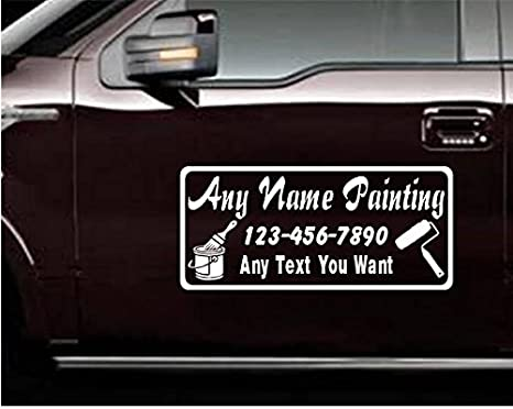 CUSTOM CAR STICKER BUSINESS DECAL Personal Company Name Lettering Vinyl