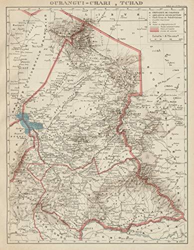 Amazon.com: French Colonial Chad & UBANGI-Shari (C. A. R.). Oubangui on
