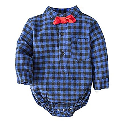 Gentleman Plaid Denim Set Baby Spring and Autumn Boys Set 2 Piece Set