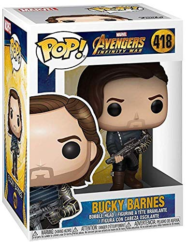 Marvel: Avengers Infinity War Funko Pop Includes Pop Box Protector Case Bucky Barnes with Weapon Vinyl Figure
