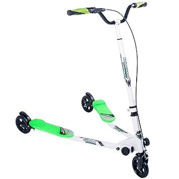 Niños 3 ruedas patinete plegable Tri deslizador alado ...