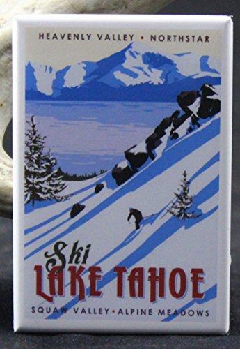 Ski Lake Tahoe Refrigerator Magnet. (Lake Tahoe Fridge Magnet compare prices)