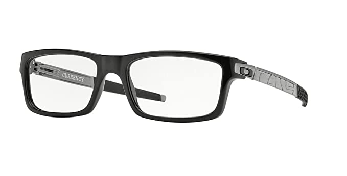 d4f83410e6 Amazon.com  Oakley OX8026-05 Currency Eyeglasses-Polished Black-54mm ...