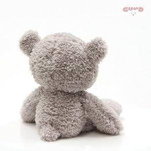 GUND Fuzzy Teddy Bear Stuffed Animal Plush, Gray, 13.5″