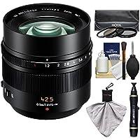 Panasonic Lumix G Leica 42.5mm f/1.2 DG Nocticron ASPH. Lens with 3 UV/CP/ND8 Filters Kit for G5, G6, G7, GF5, GF6, GF7, GH3, GH4, GM1, GM5, GX7, GX8 Cameras