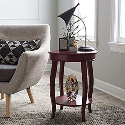 end tables for small spaces cottage style side end tables for small spaces dark red amazoncom red kitchen dining