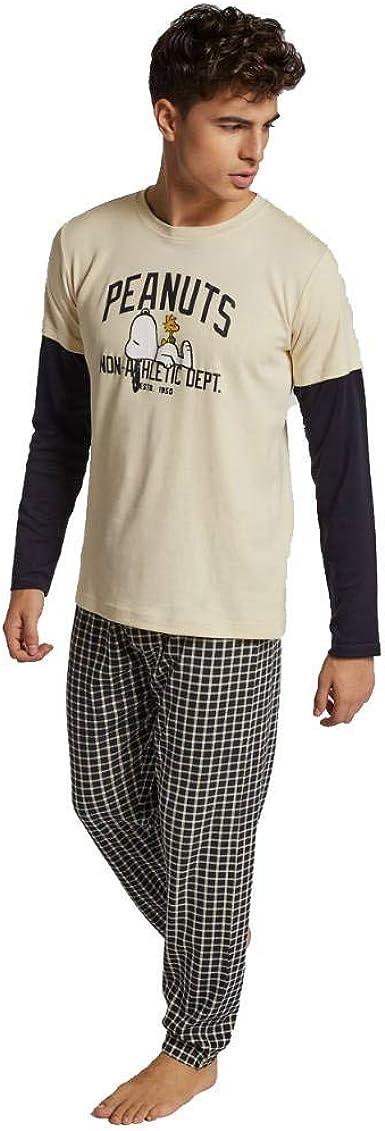 GISELA Pijama Hombre Snoopy (XL, Negro): Amazon.es: Ropa