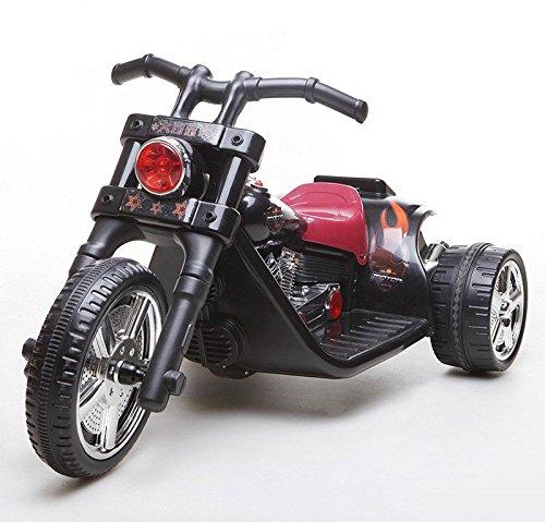 Kinderfahrzeug - Elektro Motorrad- Chopper - 2 Motoren - 6V7Ah (Schwarz)