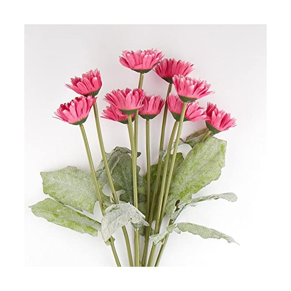 Factory Direct Craft Poly Silk Pink Gerbera Daisy Floral Bush   for Indoor Decor