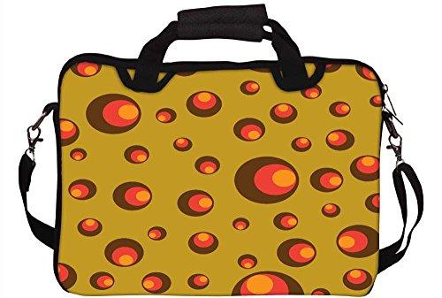 Snoogg klein Colorful Shades 30,5cm 30,7cm 31,8cm Zoll Laptop Notebook Computer Schultertasche Messenger-Tasche Griff Tasche mit weichem Tragegriff abnehmbarer Schultergurt für Laptop Tablet PC Ult