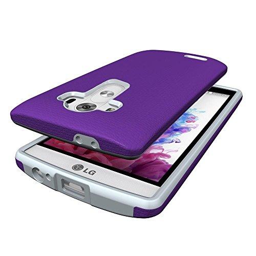 LG G4 Funda- DETUOSI Protectora Movil Gel TPU Silicona Cover Case Carcasa de Protección Hibrida Completa Funda para LG G4 -Púrpura Púrpura