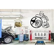 Auto service, tires, repair, car washing,car,Wall Decal, Window Sticker,Handmade 2244
