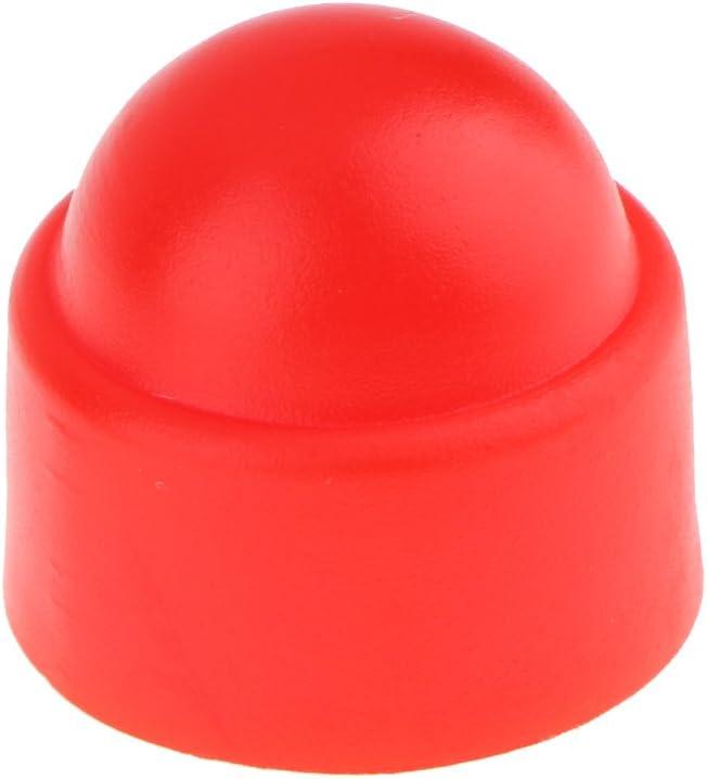 10 St/ück Sechskantmutterkappe f/ür Sechskantschrauben und Muttern Rot M8 13 x 15 mm