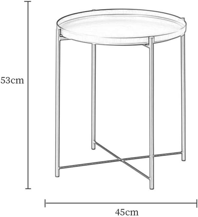 Koop Nieuwste Salontafel Metalen Enkellaags Round Salontafel Opslagzijde Table Eenvoudige Mini Balkon Hoekkader Hedendaagse Salontafel 4.13 (Color : Green) Black kYyVicU