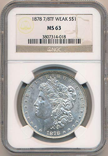 1878 P Morgan Dollar Morgan Dollar MS63 NGC