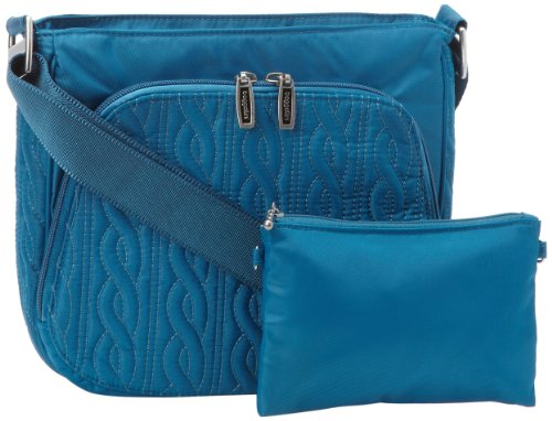 UPC 741980629453, Baggallini Luggage Allure Satin Quilted Crossbody Bag, Lagoon, One Size