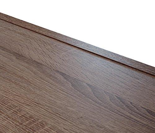 Mendler Élément Mural Lisburn, étagère Murale, cloison de séparation,  Structure 3D, Aspect chêne 199x160x42cm  Amazon.fr  Cuisine   Maison 16f8000bc038