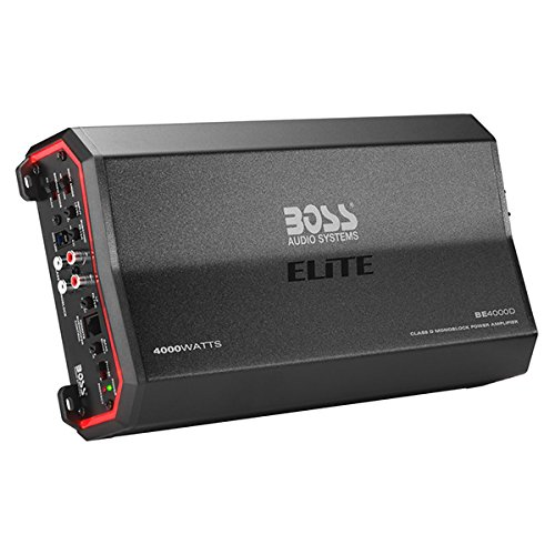 BOSS Audio Elite BE4000D 4000 Watt, Class D, Monoblock Amplifier, Remote Subwoofer Control