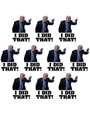 Sticker Pack Adult, Stickers, Joe Biden Campaign Logo Sticker Decal, Humorous Funny Stickers, Joe Biden I Did That Sticker Decal Humor Suitable for Any Smooth Surface(10 Sheets)
