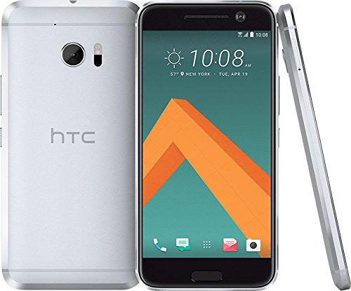 HTC 10 T-Mobile - Glacier Silver, 5.2in 12MP 32GB - (Renewed) (Phone Htc One Max Unlocked)